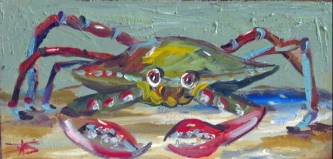 Art: Crabby Billie No. 3 by Artist Delilah Smith