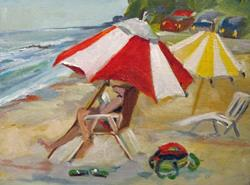 Art: Beach Read-sold by Artist Delilah Smith