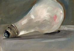 Art: Light Bulb by Artist Delilah Smith