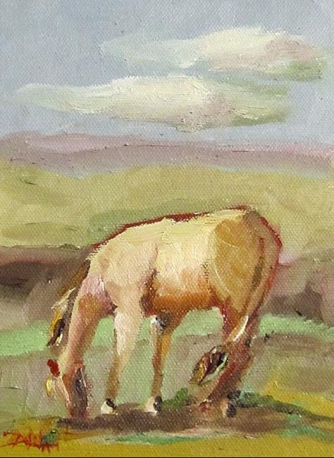 Art: Grazing Horse by Artist Delilah Smith