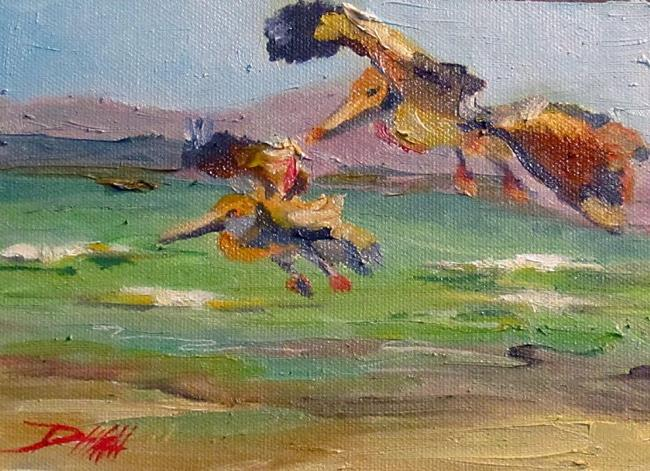 Art: Pelicans by Artist Delilah Smith