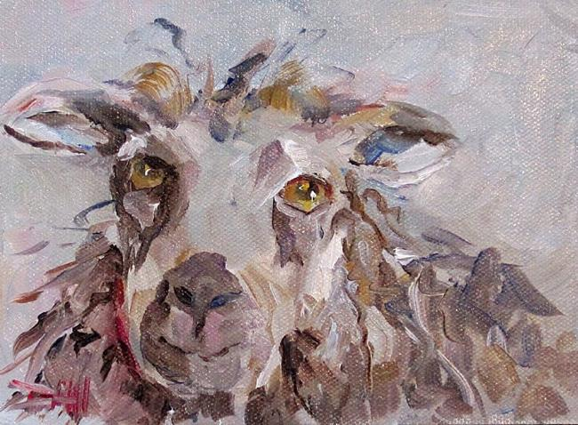 Art: Shaggy Sheep by Artist Delilah Smith