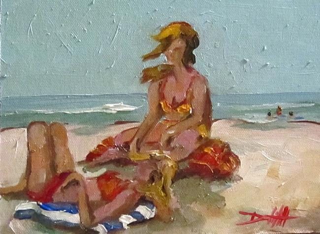 Art: Beach Girls by Artist Delilah Smith
