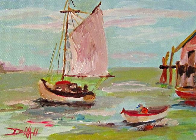 Art: Sails Up by Artist Delilah Smith