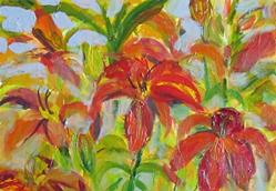 Art: Lillies by Artist Delilah Smith