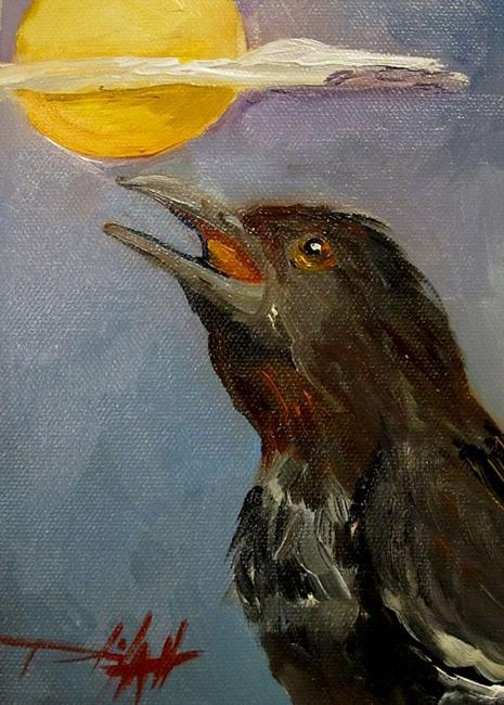 Art: The Raven by Artist Delilah Smith