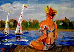 Art: dock-bay-5x7.JPG by Artist Delilah Smith