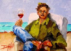 Art: A Vacation Toast by Artist Delilah Smith