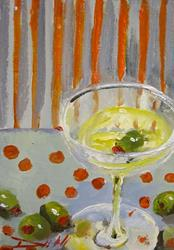 Art: Martini and Olives by Artist Delilah Smith