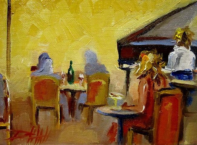 Art: Piano Bar by Artist Delilah Smith