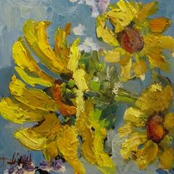 Art: Interpertaion of Sunflowers by Artist Delilah Smith