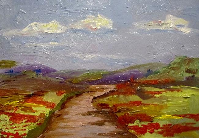 Art: Landscape with Poppies No.2 by Artist Delilah Smith