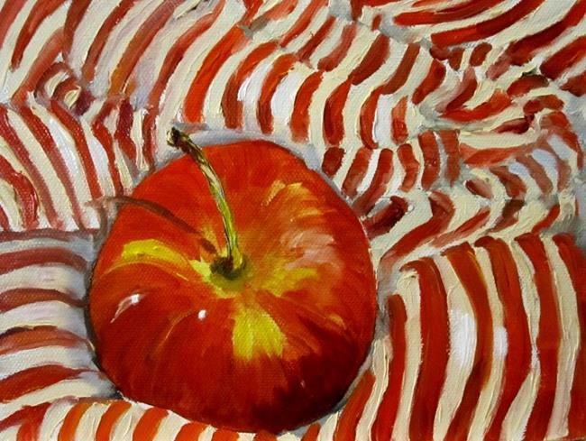Art: Apples and Stripes by Artist Delilah Smith