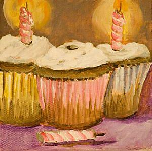 Art: Birthday Party Cupcakes No.2 by Artist Delilah Smith
