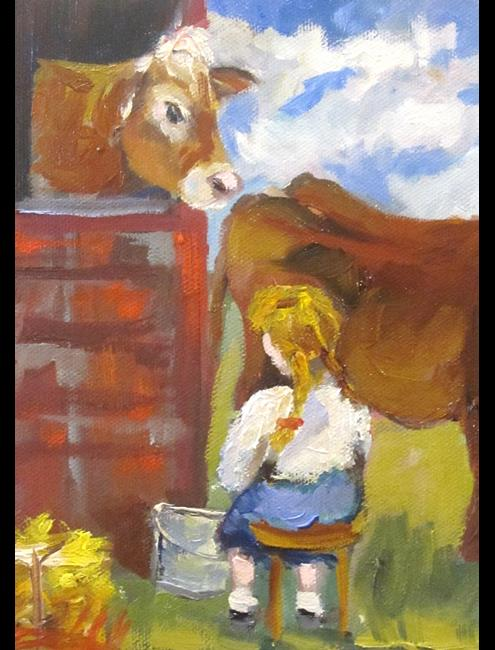 Art: Milk Cow by Artist Delilah Smith