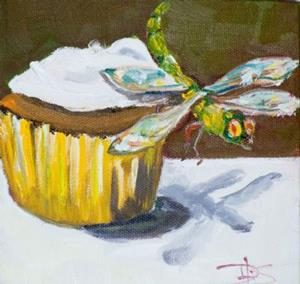 Detail Image for art Cupcake and Dragonfly