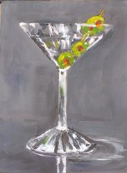 Art: Dry Martini Three Olives by Artist Delilah Smith