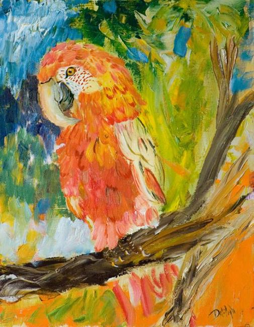 Art: Parrot by Artist Delilah Smith