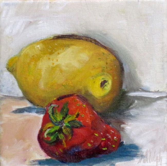 Art: Lemon and Strawberry-SOLD by Artist Delilah Smith