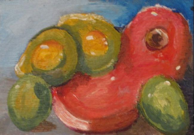 Art: Green Eggs and Ham Aceo by Artist Delilah Smith