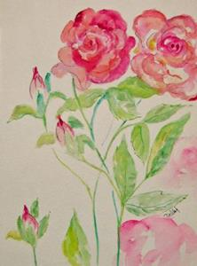 Detail Image for art Two Roses-sold