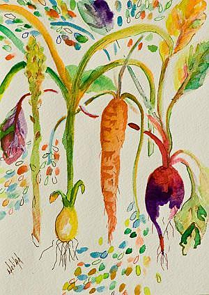 Art: Fresh Vegtables by Artist Delilah Smith