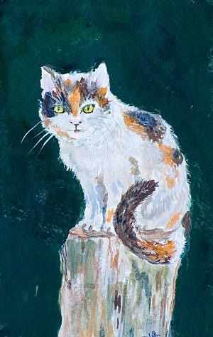 Art: Pole Cat by Artist Delilah Smith