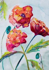 Detail Image for art Three Poppies-sold