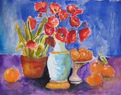 Art: Poppy Still Life by Artist Delilah Smith