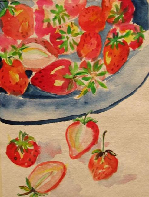 Art: Bowl of Berries-sold by Artist Delilah Smith