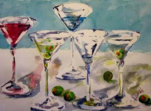 Detail Image for art Martini and Olives