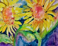 Art: Sunflowers by Artist Delilah Smith