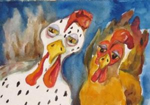 Detail Image for art The Chicken Odd Couple