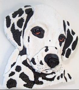 Detail Image for art Dalmation Original Painted Intarsia Art