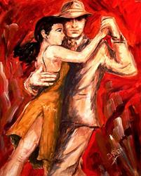 Art: Tango #3 - SOLD by Artist Diane Millsap