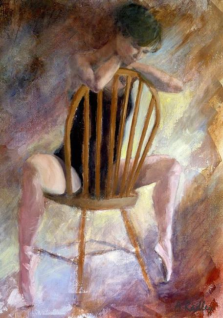 Art: Pensive Dancer by Artist Ann Radley