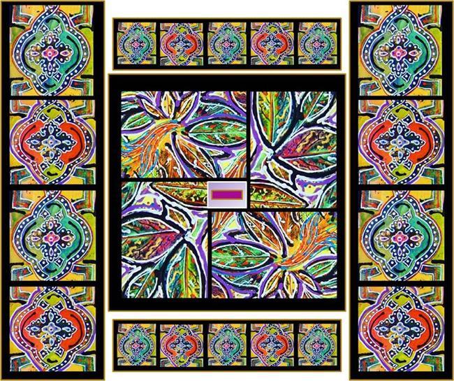 Art: Digital Mosaic #1 by Artist Joan Hall Johnston