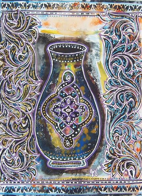 Art: Blue Vase by Artist Joan Hall Johnston