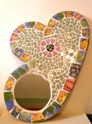 Art: Heart Mirror - SOLD by Artist VermontMosaics