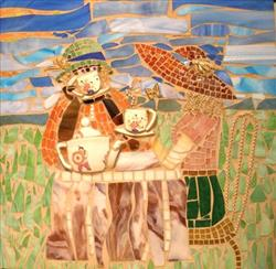 Art: Tea in the Meadow by Artist VermontMosaics
