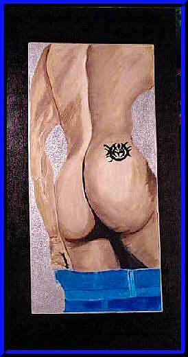 Art: Original Male Nude Art Painting by Artist Dia Spriggs