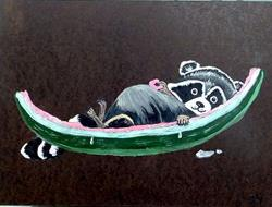 Art: Connie's Raccoon by Artist Dia Spriggs
