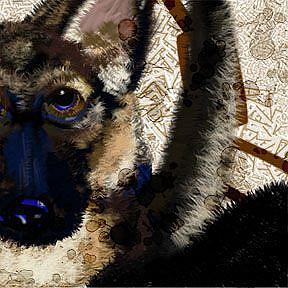 Detail Image for art Break These Chains: German Shepard Dog