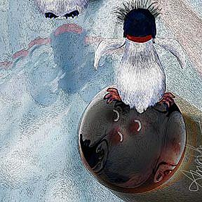 Detail Image for art Huffin and a Puffin