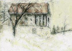 Art: Caledon Barn 2 by Artist Claire Bull