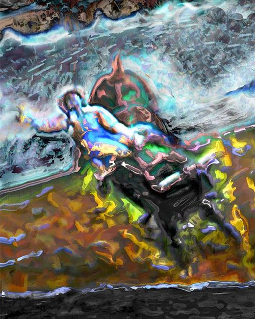 Art: Rodeo Glow 1 by Artist Anthony Allegro