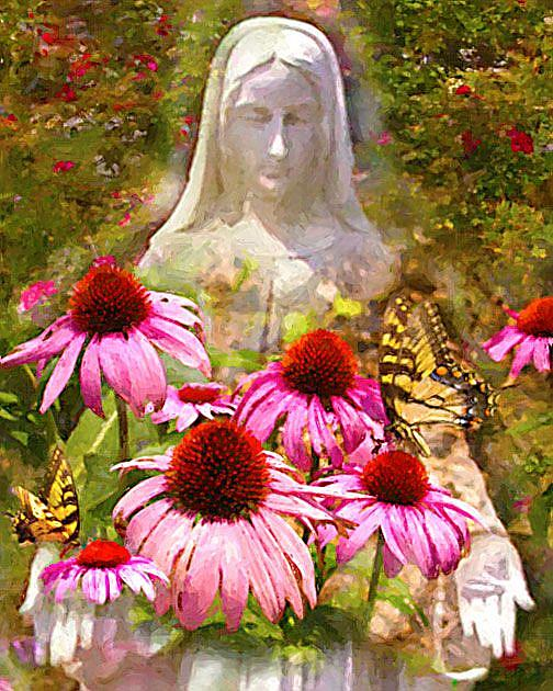 Art: Blessed Mother's Garden by Artist Anthony Allegro