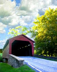 Art: Utica Maryland Covered Bridge by Artist Anthony Allegro