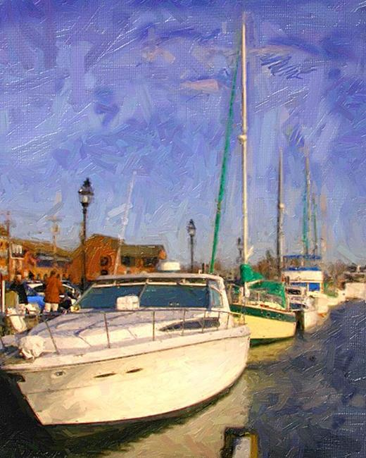 Art: Boats by Artist Anthony Allegro