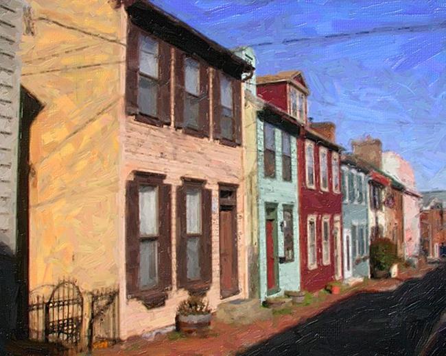 Art: Side Street Homes 1 by Artist Anthony Allegro